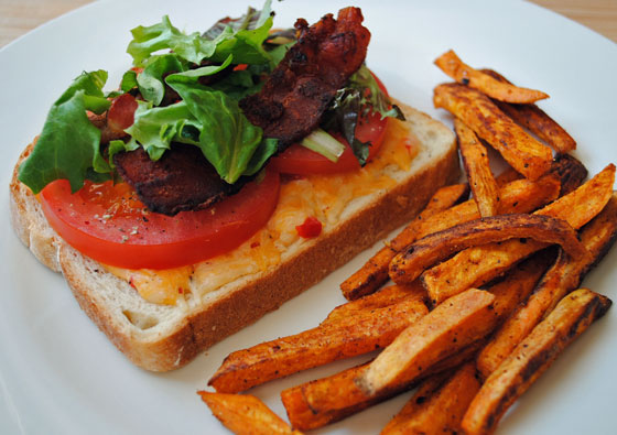 Open-Faced Pimiento Cheese BLT