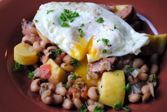 Sausage & Black-Eyed Pea Hash
