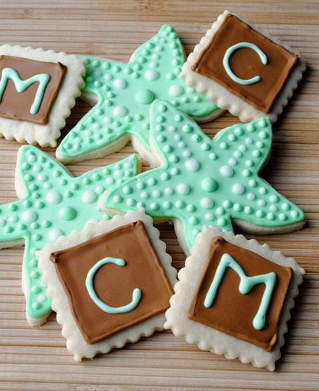 Starfish & Initial Sugar Cookies