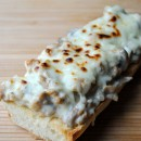Sausage Alfredo French Bread Pizza