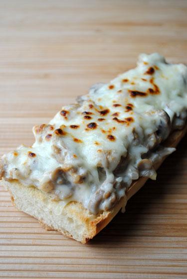 Sausage Alfredo French Bread Pizza