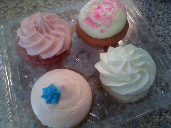 Blue Velvet Cupcakes 4-Pack