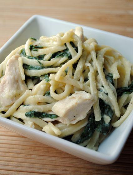 Roasted Chicken Florentine Pasta