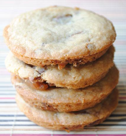 Stacked Deep Dish Caramel Apple Milky Way Cookies