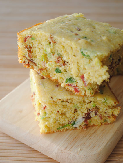Bacon-Scallion Cornbread