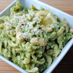 Pasta & White Beans with Broccoli Pesto