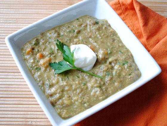 Curried Green Lentil Soup