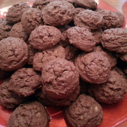 Mint Chocolate Pudding Cookies