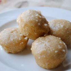 Mini Eggnog Donut Muffins