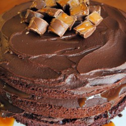 Tall, Dark, and Stout Chocolate Layer Cake