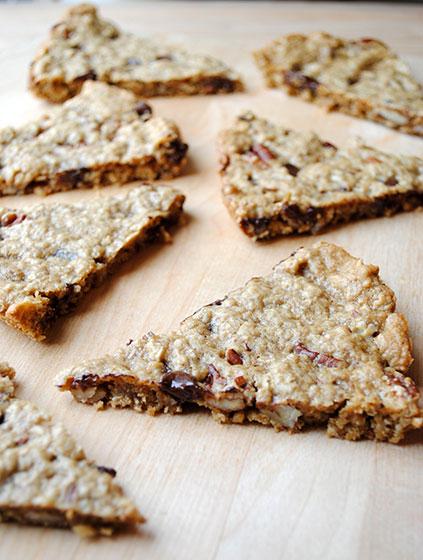 Granola Cookie Wedges