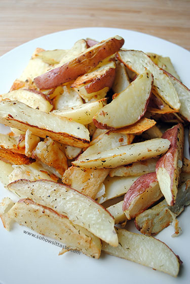 Roasted Potato Wedges by So, How's It Taste?