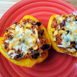 Vegetarian Stuffed Bell Peppers by So, How's It Taste