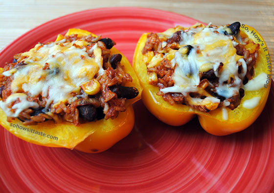 Vegetarian Stuffed Peppers by So, How's It Taste