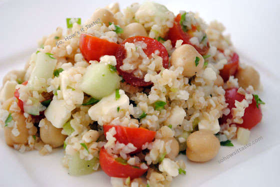 Middle Eastern Bulgur Salad by So, How's It Taste? www.sohowsittaste.com