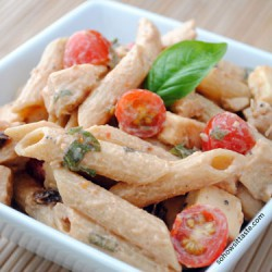 Spicy Pasta Salad with Chicken and Smoked Gouda by So, How's It Taste? www.leah-claire.com