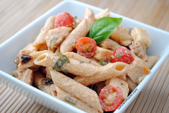 Spicy Pasta Salad with Chicken and Smoked Gouda by So, How's It Taste? www.sohowsittaste.com