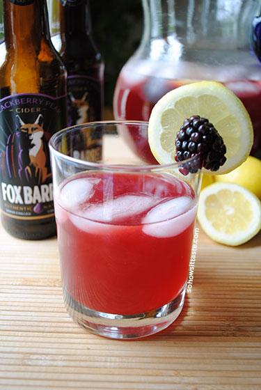 Blackberry Pear Cider Arnold Palmer by So, How's It Taste? www.sohowsittaste.com