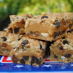 Chocolate Toffee Caramel Bars by So, How's It Taste? www.sohowsittaste.com