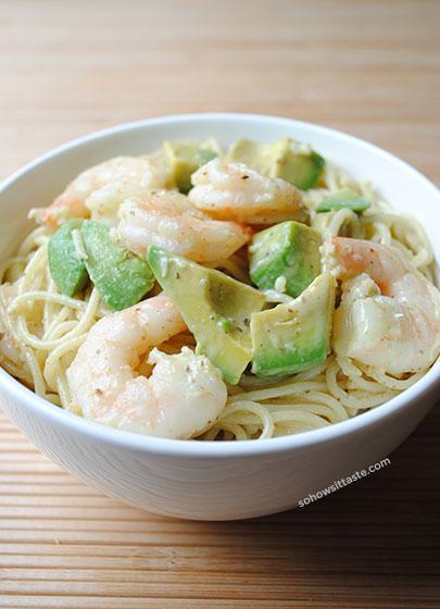 Monterey Shrimp Pasta by So, How's It Taste? www.sohowsittaste.com