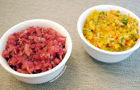 Sweet & Sour Onions and Bell Pepper Relish by So, How's It Taste? www.leah-claire.com