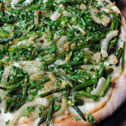 Spring Vegetable Pizza and Gremolata by So, How's It Taste? www.leah-claire.com