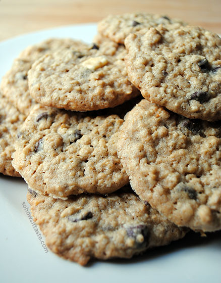 Every Chip Oatmeal Cookies by So, How's It Taste? www.leah-claire.com