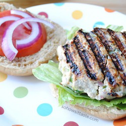 Garden Turkey Burger by So, How's It Taste? www.sohowsittaste.com