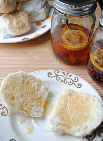 Spiced Honey on biscuits by So, How's It Taste? www.leah-claire.com