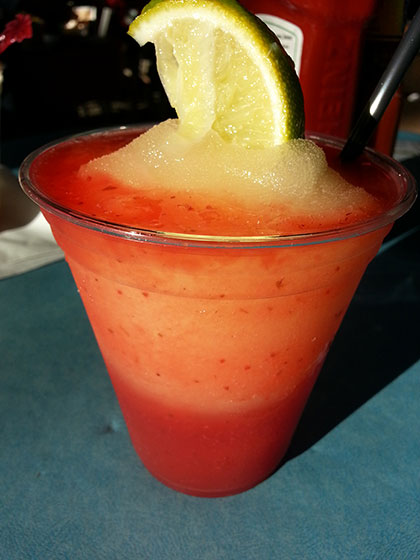 Margaritaville Strawberry Margarita on So, How's It Taste? www.leah-claire.com