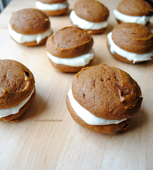 Pumpkin Whoopie Pies by So, How's It Taste?