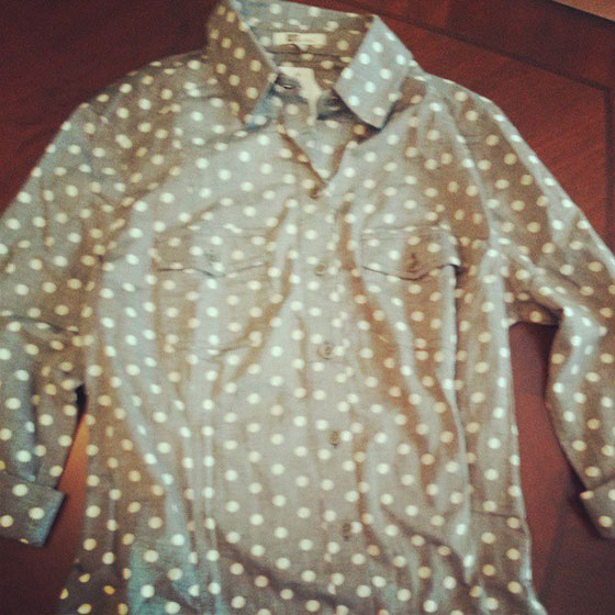 Stitch Fix Polka Dot Shirt on So, How's It Look?