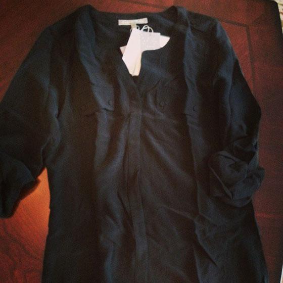 Stitch Fix Black Silk Shirt on So, How's It Look?