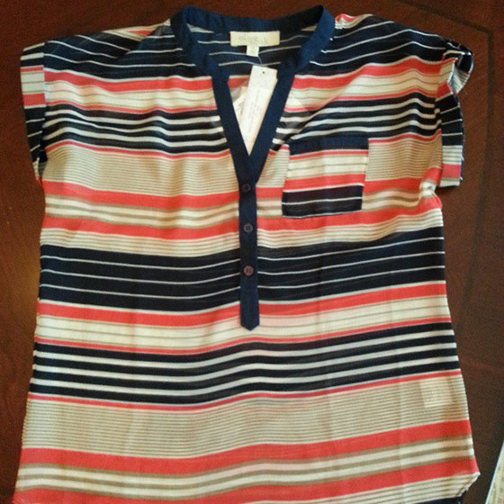Stitch Fix Navy Striped Shirt on So, How's It Look?