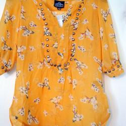 Angie, Moni Stud Detail Floral Print Top