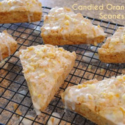 Candied Orange Peel Scones | So, How's It Taste?
