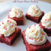 Red Velvet Brownies with Cream Cheese Frosting | So, How's It Taste?