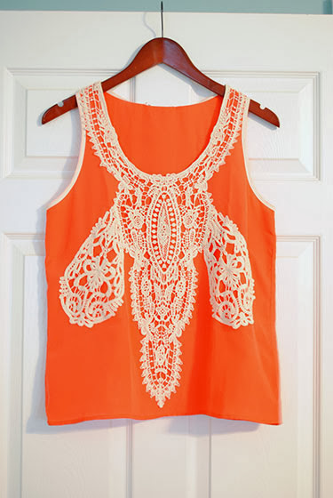 Collective Concepts Ilean Crochet Detail Sleeveless Blouse