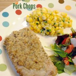 Baked Sage Breaded Pork Chops