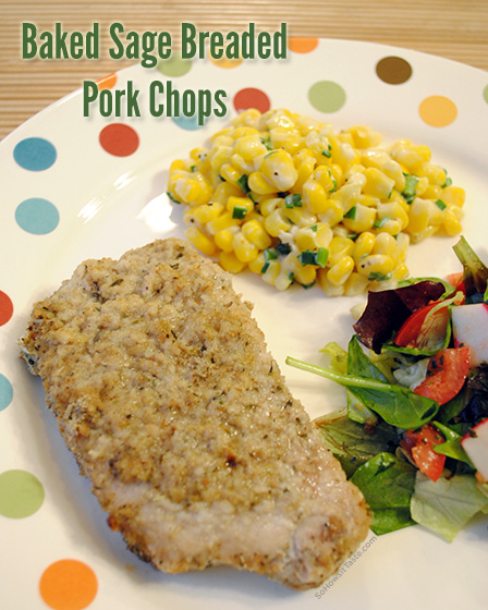 Baked Sage Breaded Pork Chops