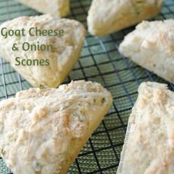 Goat Cheese & Onion Scones