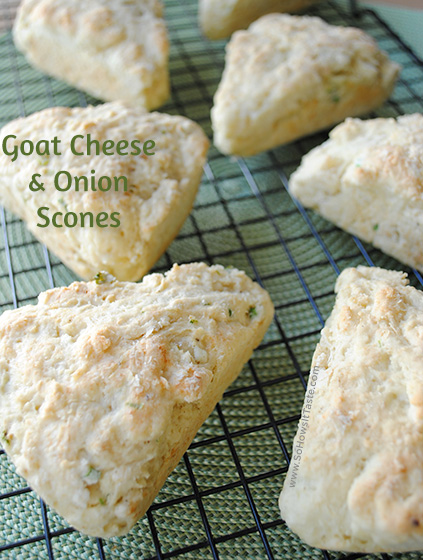 Goat Cheese & Onion Scones