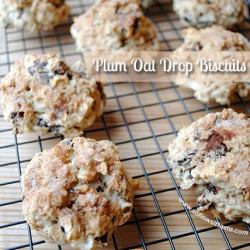 Plum Oat Drop Biscuits