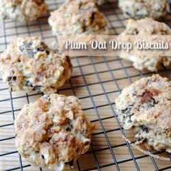 Plum Oat Drop Biscuits