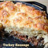 Turkey Sausage Biscuit Casserole