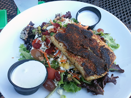 The Croce Salad with Mahi Mahi, Rum Barrel