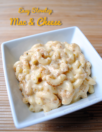 Easy Stovetop Mac & Cheese