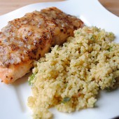 Glazed Salmon with Couscous