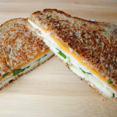 Turkey, Cheddar, and Apple Sandwich