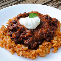 Chipotle Black Beans with Mexican Rice